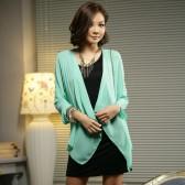 秋冬韩版显瘦打底衫雪纺针织假两件套长袖上衣/512