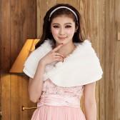 610白色 甜美百搭礼服姐妹披肩珍珠扣上衣