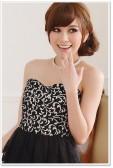 9108红色 美雅亮眼复古修身显瘦末胸蛋糕裙礼服连衣裙(送隐形带)