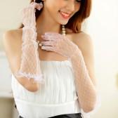 1002 婚纱礼服白色手套防晒网纱手套赠品礼服配饰长手套