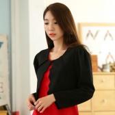 9937黑色  韩版小香风长袖百搭披肩短外套百搭礼服大码小外套