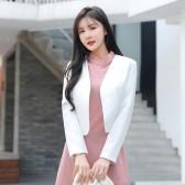 9699#白色    优雅小香风外套礼服百搭衫大码上衣