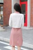 9698#黑色    时尚礼服领百搭复古中国风长袖小外套大码礼服上衣