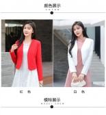 9699#红色    优雅小香风外套礼服百搭衫大码上衣